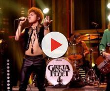 I Greta Van Fleet sul palco durante un concerto