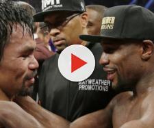 Manny Pacquiao e Floyd Maywather dopo il combattimento del 2 maggio 2015