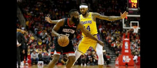 James Harden's 48 points on Saturday helped Houston defeat the Lakers in overtime. [Image via Bleacher Report/YouTube screencap]