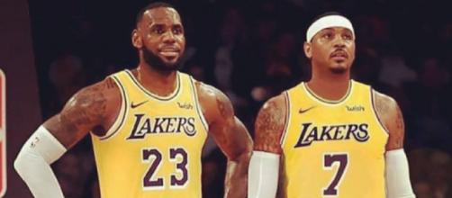best sneakers 47343 80ea6 LeBron James hinting at Melo to Lakers