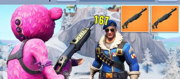 Fortnite double pump is back! [Image source: DeluxPlays / YouTube]