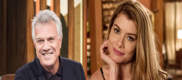 Pedro Bial e Alinne Moraes não acreditam em Deus (Foto: Globo/PDN Entretenimento)