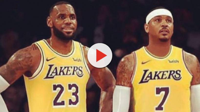 LeBron James hinting at Melo to Lakers