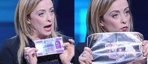 Giorgia Meloni a Non è l'arena - Blasting News