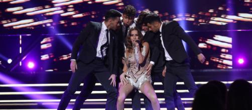 """Marilia canta """"Todo bien"""" en la gala de Eurovisión. / RTVE.es"""