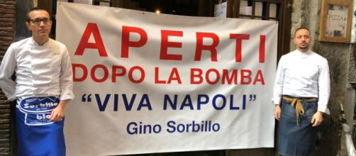 Napoli, Gino Sorbillo riapre la pizzeria dopo la bomba - scattidigusto.it