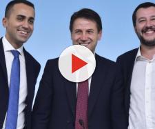 Da sinistra: Di Maio, Conte e Salvini.