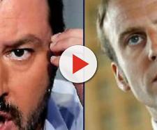 Salvini e Di Maio contro Macron
