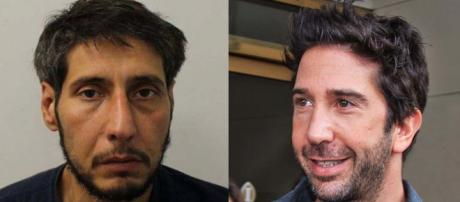 "The captured thief does not look like David Schwimmer from ""Friends."" [Image suspect courtesy Blackpool Police/Schwimmer Gordon Correll/Flickr]"