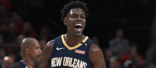 Jrue Holiday led the Pelicans to a victory over the Grizzlies on Monday (Jan. 21). [Image via NBA/YouTube screencap]