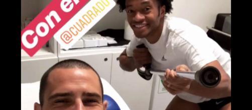 Juventus, un po' di relax per bianconeri, ma Bonucci e Cuadrado sono al lavoro: la foto