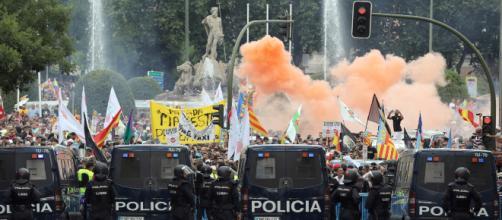 Los taxistas han respondido con violencia en la huelga