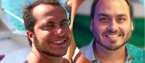 Thammy Miranda e Carlos Bolsonaro impressionam pela semelhança física. (Foto Reprodução)