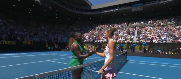Karolina Pliskova beats Serena Williams at their 2019 Australian Open quarterfinals match. Image credit - Australian Open | YouTube