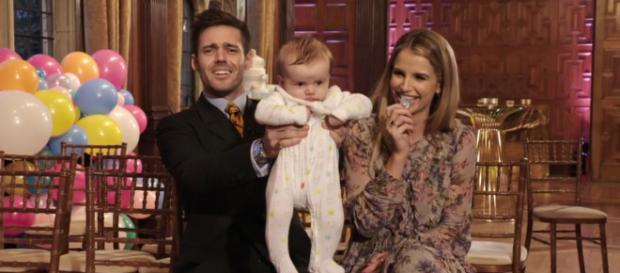 Spencer and Vogue invite friends and family to celebrate baby Theodore (Image credit: Spencer, Vogue and Baby Too/ 4oD)