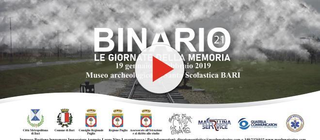 'Binario 21 - Le giornate della memoria': a Bari un progetto per non dimenticare l'olocausto