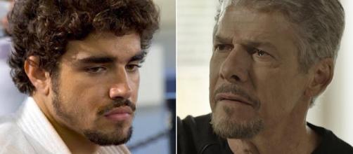 Caio Castro e José Mayer não fazem mais parte do casting da Globo. (Foto Reprodução)