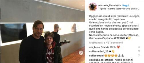 Michele Fiscaletti e Francesco Totti