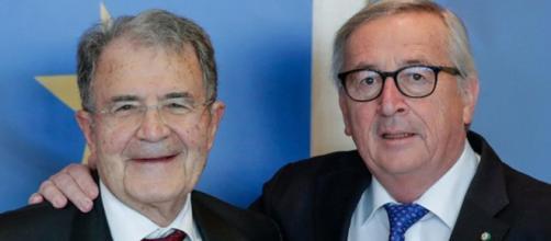 Romano Prodi ed il Presidente della Commissione europea Juncker