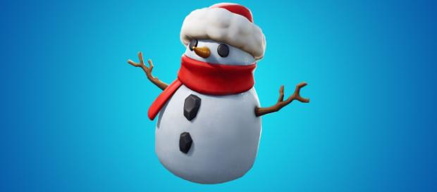 Fortnite patch v7.20 adds Sneaky Snowman. [image source: Fortnite/YouTube screenshot]