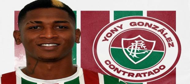 Yony Gonzalez pode estrear pelo Flu (Foto: Reprodução/Twitter Oficial do Fluminense F.C.)