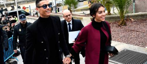 Cristiano Ronaldo y Georgina ante el juez