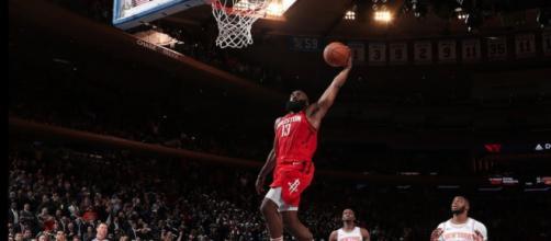 James Harden scored 61 points in a Rockets' in on January 23. - [NBA / YouTube screencap]