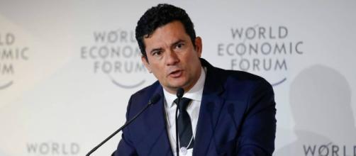 Ministro da Justiça, Sergio Moro, durante evento em Davos, na Suíça (Alan Santos/PR)