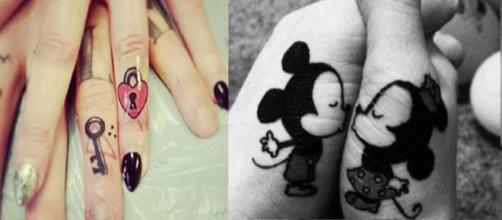 Tatuagens que expressam o amor e união do casal. (Foto/Reprodução via Super Feed).