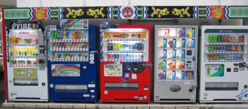 Vending machine of soft drink and ice cream in Japan (image via wikimedia.org)