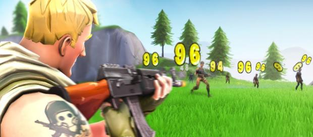 Fortnite's shooting is broken. [Image source: Tfue / YouTube]