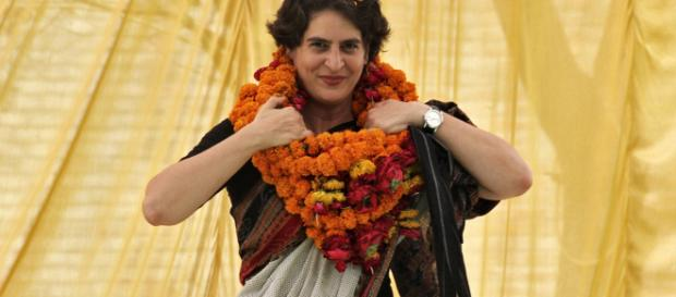 Priyanka Gandhi enters politics and Congress looks up Photo-Image credit (screenshot -Times now/ Youtube.com)