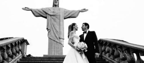 Casamento aos pés do Cristo Redentor (Reprodução/Facebook)