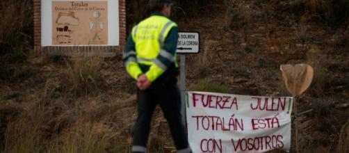 Fotografía del área de rescate del pequeño Julen en Totalán