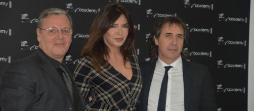L'attrice Francesca Rettondini con Roberto Marco Oddo e Salvuccio Canfora
