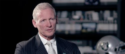 Mike Mayock is in support of keeping Derek Carr as the Raiders starting QB. [Image Credit] Raiders - YouTube