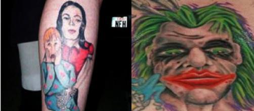 Tatuagens que não saíram como se queria. (Foto/Reprodução via UOL).