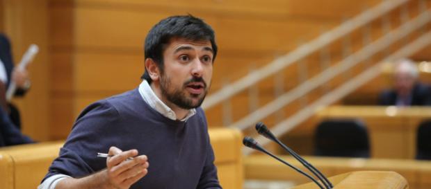 El secretario general de Podemos en Madrid, Ramón Espinar, durante una intervención en el Senado. EP (El Independiente)