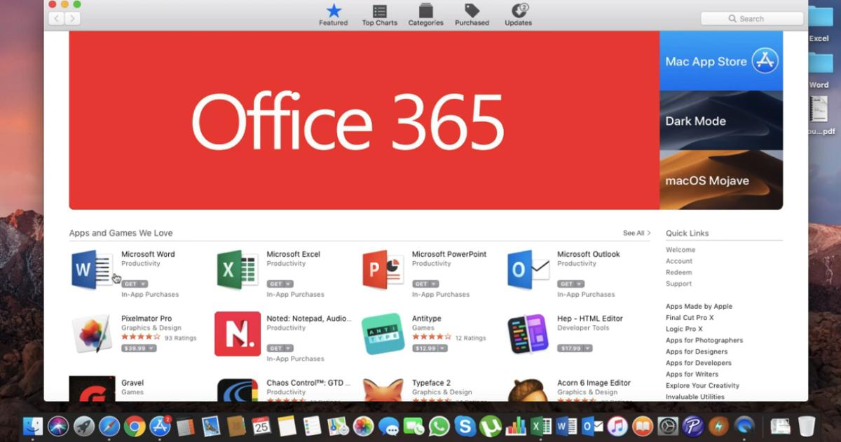 Microsoft Office Now Available At App Store For Mac Users