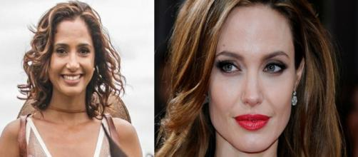Camila Pitanga e Angelina Jolie não acreditam em Deus (Foto: Globo/Maxim/PDN Entretenimento)