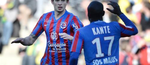 Emiliano Sala e Kanté ai tempi del Caen.