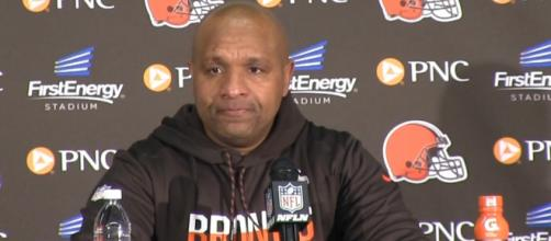 Hue Jackson reportedly got furious after being fired from the Browns. [Image Credit] Cleveland.com - YouTube