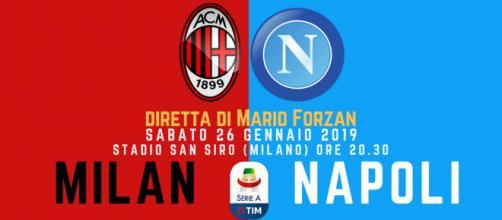SERIE A: San siro ospita il big match Milan - Napoli