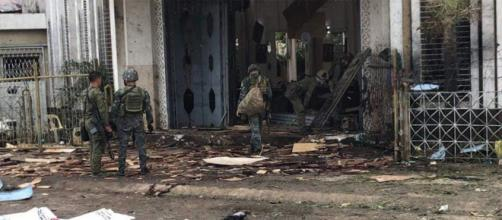 Aftermath of the church bombing in Southern Philippines - Image credit-staronline/youtube.com