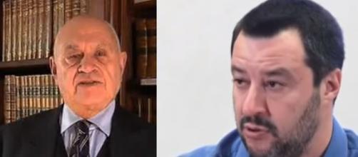 L'ex pm Carlo Nordio e Matteo Salvini