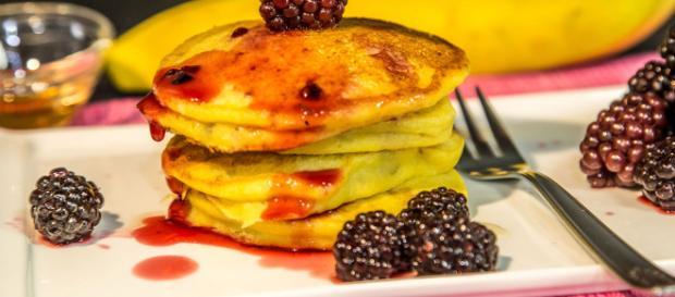 Ricetta Pancake allo sciroppo d'acero.