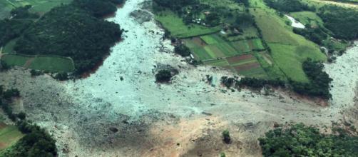 Desastre causado pelo rompimento da barragem de Brumadinho (Divulgação/Presidência da República)