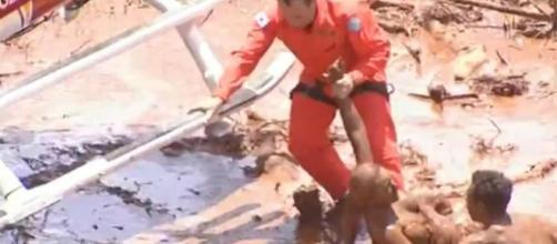 Tragédia em Brumadinho (Reprodução/RecordTV)