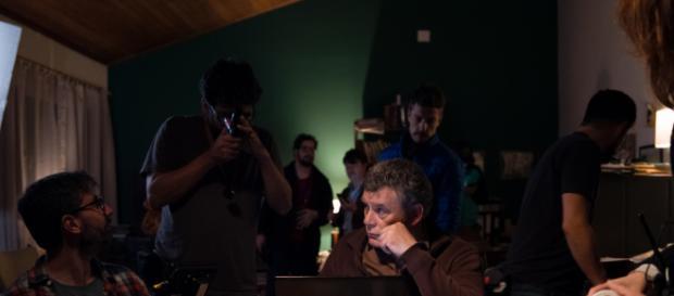 Foto mostra os bastidores da série 'Contracapa', da TV Brasil (Divulgação/GP7 Cinema).