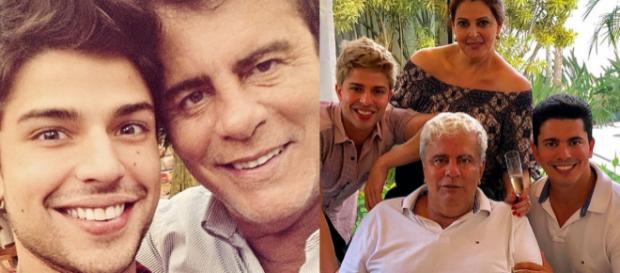 Wagner Montes e família (Reprodução Instagram)